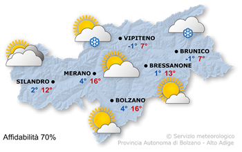 Instabile a nord, sole a sud